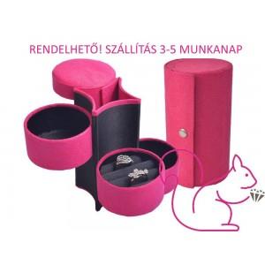 Ékszertartó henger, pink