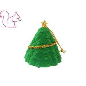 Karácsonyfa bársony ékszertartó doboz