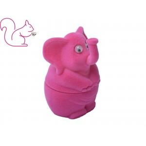Elefánt bársony ékszertartó doboz, pink