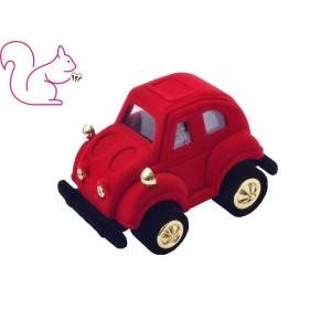 Piros autó bársony ékszertartó doboz