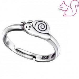 Csigás gyerek gyűrű, ezüst