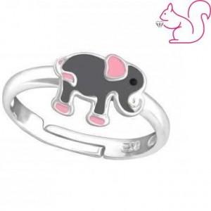 Elefántos gyerek gyűrű, ezüst