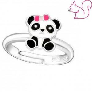 Pandamaci gyerek gyűrű, ezüst