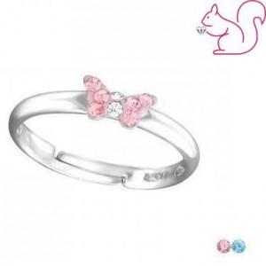 Pillangós gyerek gyűrű, ezüst