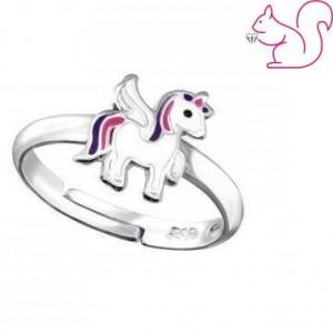 Egyszarvú gyerek gyűrű, ezüst