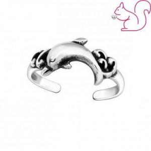 Ezüst delfines gyűrű