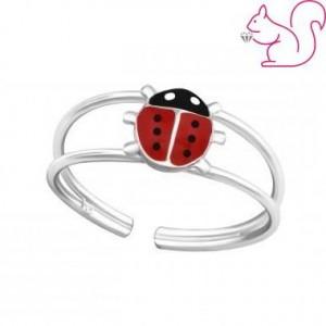 Katicabogár gyerek gyűrű