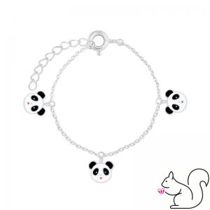 Pandamaci fejes ezüst karkötő
