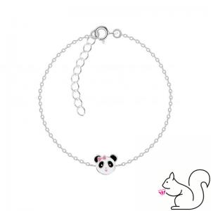 Panda kislány fejes ezüst karkötő