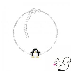Pingvines ezüst karkötő