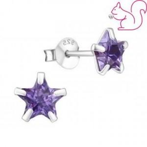 Csillag köves ezüst fülbevaló