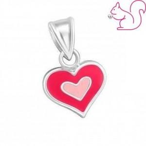 Pink szíves medál