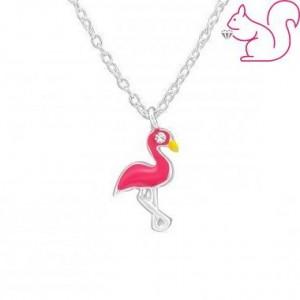 Flamingó ezüst nyaklánc