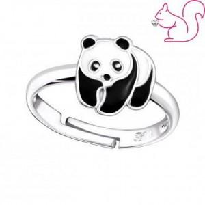 Pandás ezüst gyűrű