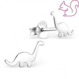 Ezüst dinoszaurusz fülbevaló