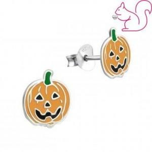 Halloween tök fülbevaló
